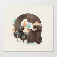 Resort Type - Letter Q Canvas Print