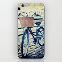Locked Bike In The City iPhone & iPod Skin