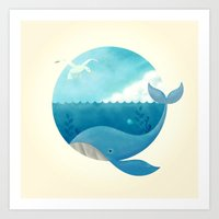 Whale & Seagull (US And … Art Print