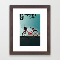 I wanna ride my bicycle Framed Art Print