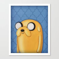 Jake Adventure Time Canvas Print