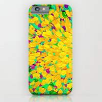 SPRING SPLASH - Bright Cheerful Lime Sunshine Yellow Lavender Lilac Purple Ocean Beach Waves iPhone 6 Slim Case