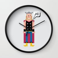 Pixel Thor Wall Clock