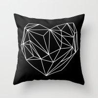 Heart Graphic (Black) Throw Pillow