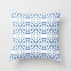 Mirror Dye Blue Throw Pillow