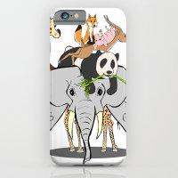 Animal Pile-Up iPhone 6 Slim Case