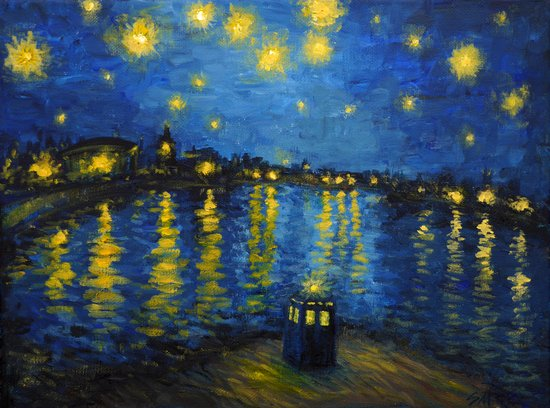 Starry Night Over Cardiff Bay Canvas Print