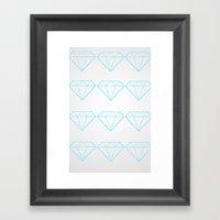 Diamonds Are A Girls Bes… Framed Art Print