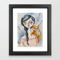 Otter Love Framed Art Print