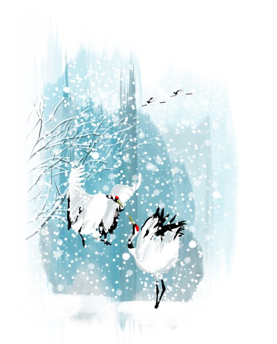 Dancing in the snow Art Print
