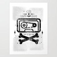 Pirate Tape Art Print