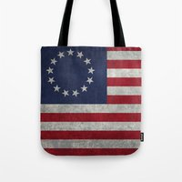 The Betsy Ross flag of the USA - Vintage Grungy version Tote Bag