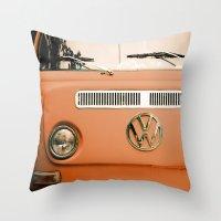 Summer of Love - Celosia Orange Throw Pillow