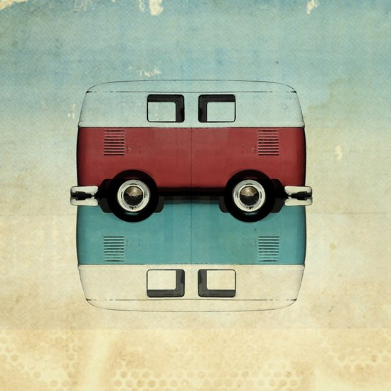 Kombi all backs Canvas Print