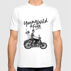 The Ride SMALL White Mens Fitted Tee
