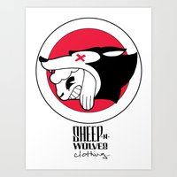 Sheep-n-Wolves Clothing Art Print