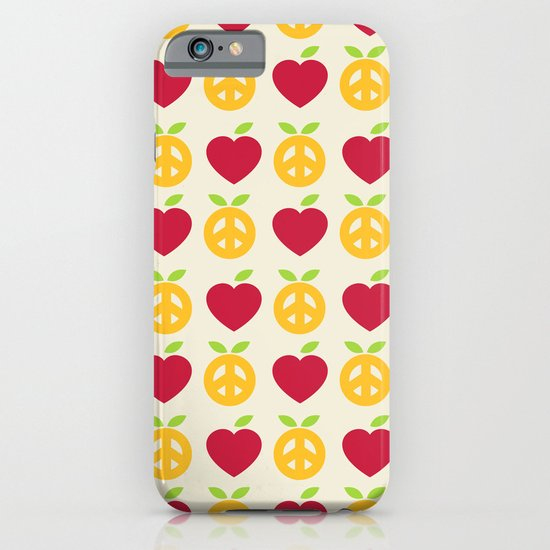 Apple and Orange - Love and Peace iPhone & iPod Case