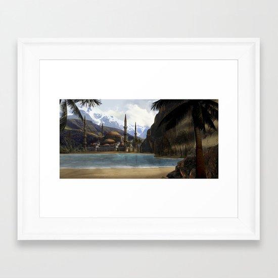 Hidden in the Mountains Framed Art Print