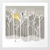 Moonshine Forest Art Print