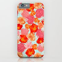 iPhone & iPod Case featuring RING A RING O' ROSES -poppies & roses- by bows & arrows