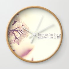 Appointed Bloom Wall Clock