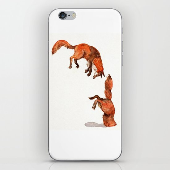 Jumping Red Fox iPhone & iPod Skin