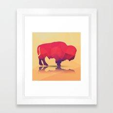 Geometric buffalo Framed Art Print