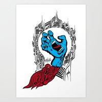 screaming hand Klevra   Art Print