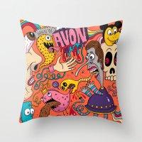 Avon Doodle Throw Pillow