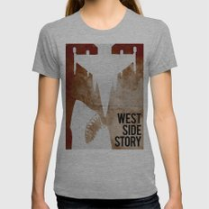 west side story Womens Fitted Tee Athletic Grey SMALL