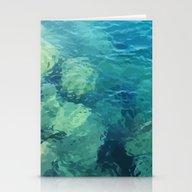 Beau Aqua Stationery Cards