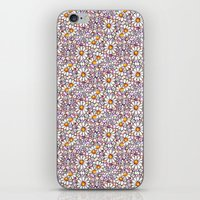 Blush Daisies and Berries Tiled Pattern iPhone & iPod Skin