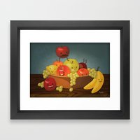 Froot Bowl Framed Art Print