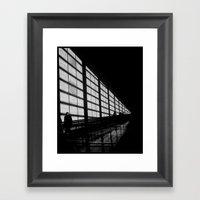 Waiting At The Airport Framed Art Print