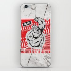 Mayhem Ape (Black on Red) iPhone & iPod Skin