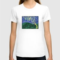 Impressionist Lanterns Womens Fitted Tee White SMALL