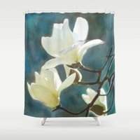 White Magnolia's One Shower Curtain