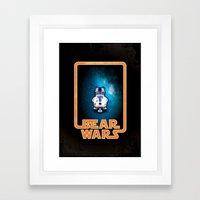Bear Wars - GRRR2D2 Framed Art Print