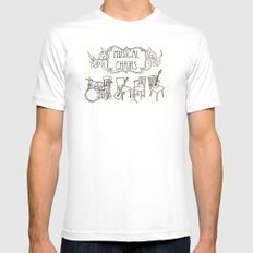 Musical Chairs Mens Fitted Tee SMALL White
