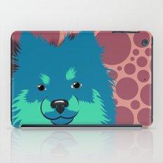 Olie the Pomeranian in Blue iPad Case