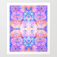 Pyschedelic Floral Art Print