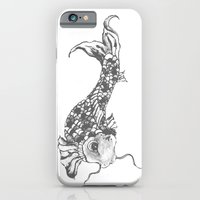 iPhone & iPod Case featuring Grey Koi by Mariah Williams