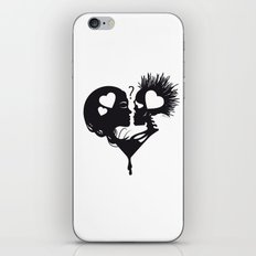 Skull Kiss iPhone & iPod Skin