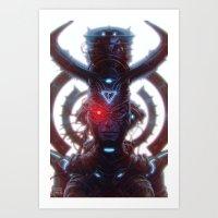 Electric Queen Art Print