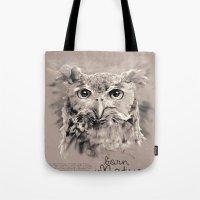 Owl (BornInNature) Tote Bag
