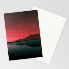 RED SKY OVER LAKE Stationery Cards