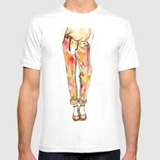 Colour crazy SMALL White Mens Fitted Tee