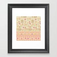 Cross Stitch Tea Party Framed Art Print