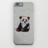 iPhone & iPod Case featuring Tiny Panda by Michael Creese
