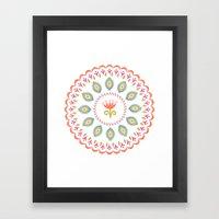 Suzani inspired floral 3 Framed Art Print